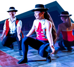 Canterbury students dancing at the gala