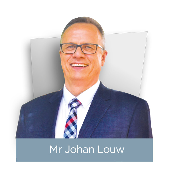 Mr Johan Louw Headshot