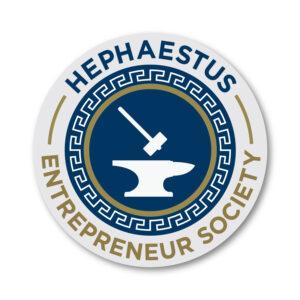 Hephaestus Entrepreneurial Society Logo
